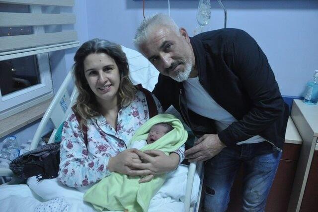 Bartın'da yeni yılın ilk bebeği Utku Berk