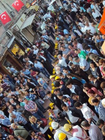 Bartın'da Baretli Protesto