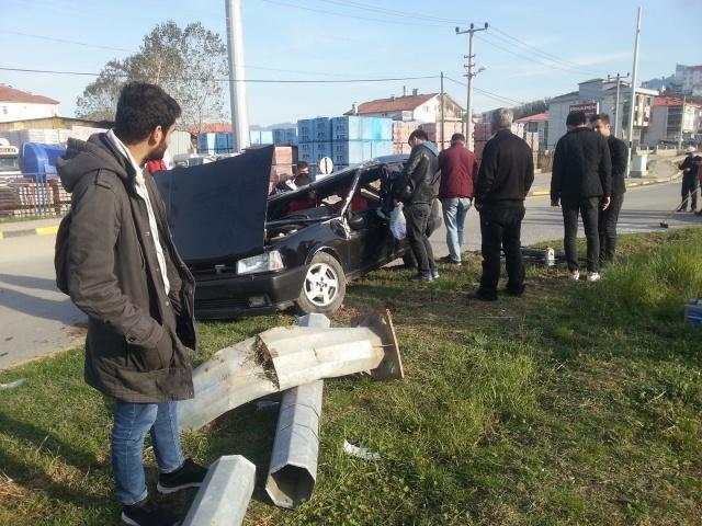 Bartın'da Akıllı Kavşakta Yine Kaza