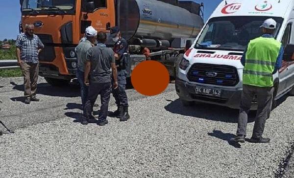 Tankerin altında kalan işçi hayatını kaybetti