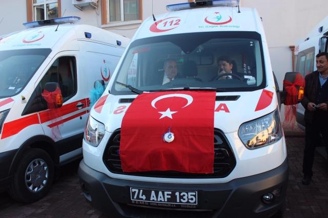 Bartın'da 7 yeni ambulans hizmete alındı