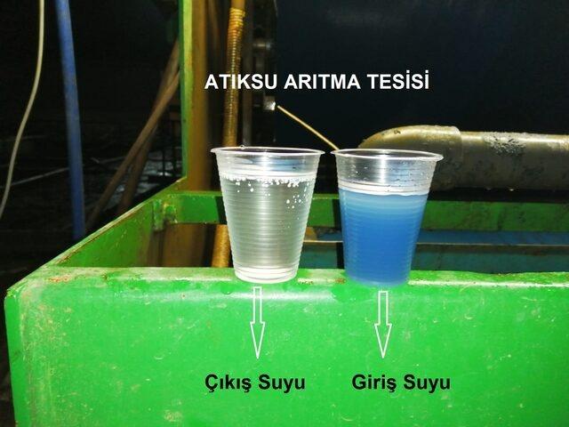 Bartın'da çayın rengi maviye döndü