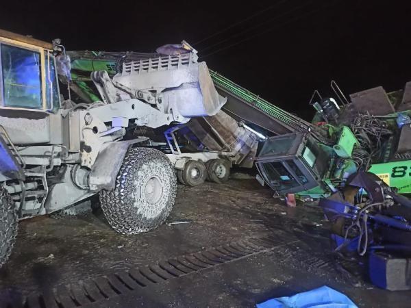 Bartın'da Damperi açık kamyonla çarptığı vincin altında can verdi
