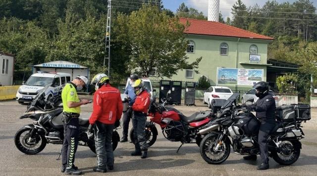 Bartın'da Motosikletlere Sıkı Denetim