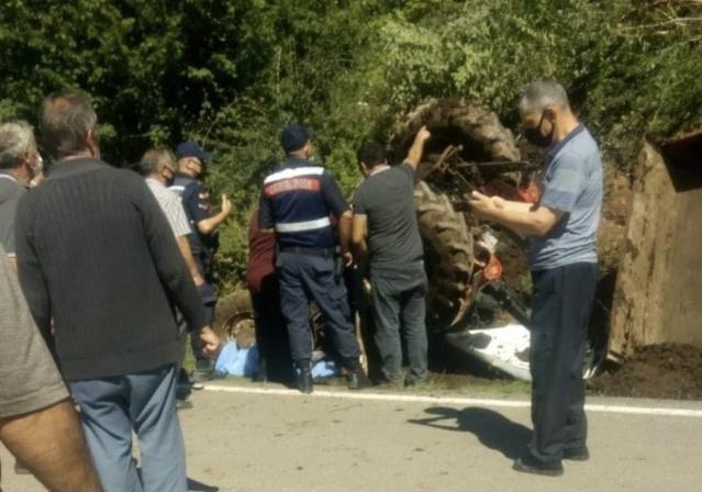 Bartın'da Traktör Kazası
