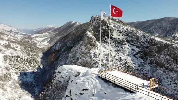 Milli Parktaki Kar Güzelliği Havadan Görüntülendi