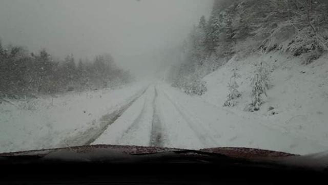 Bartın'ın Yüksek Kesimlerinde Kar Yağışı Etkili Oluyor