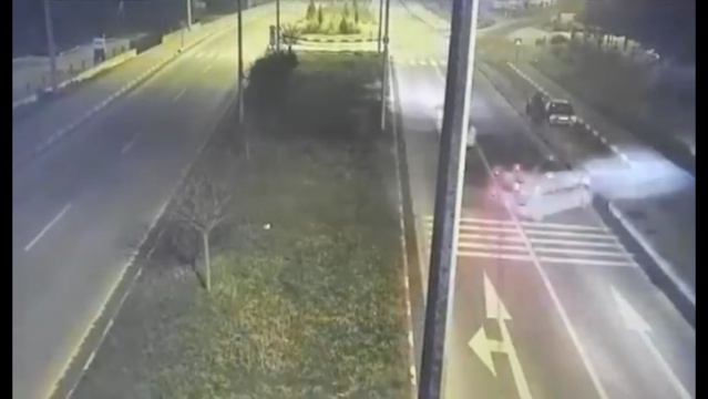Bartın'da 1 kişinin öldüğü feci kaza kamerada