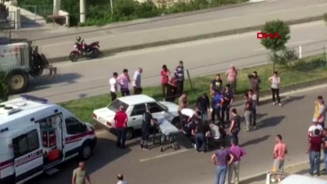 Almanya'dan çocuklarını görmeye geldi, kazada öldü