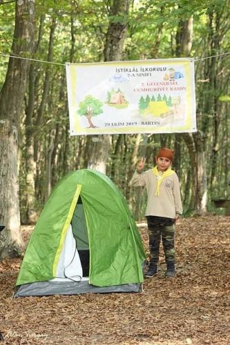 Bartın'da ilkokul öğrencileri izci kampına katıldı