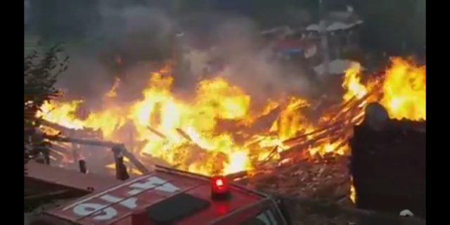 Bartın'da Yangın