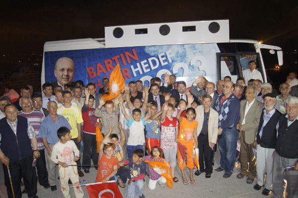 Tunç ve Kalay'a Aladağ Mahallesinden tam destek