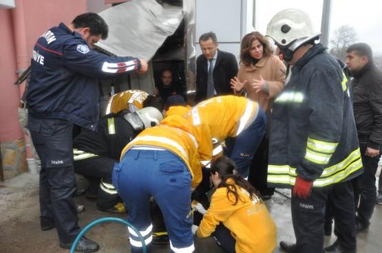 Bartın'da Asansör Düştü: 1 Yaralı
