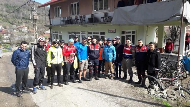 Bartın'da Şehitlere Saygı Bisiklet Turu