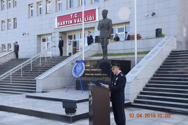 Bartın'da Türk Polis Teşkilatının 174.Yılı Kutlamaları