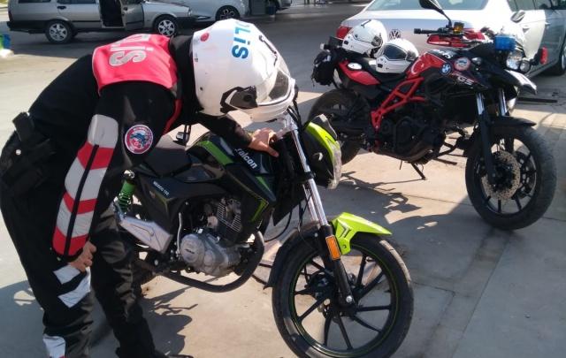 Bartın'da motosikletli polisler iş başında