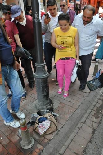 Bartın'da Vatandaşın şüpheli çanta merakı