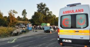 Bartın'da Feci Kaza 1 ölü 6 yaralı