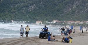Bartın'ın mavi bayraklı plajında denize girmek yasaklandı