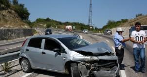 Kadın Sürücü Yaralandı