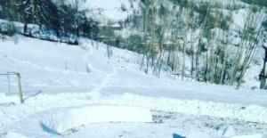 Bartın'da Kardan Dev Türk Bayrağı