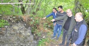 Bartın'da Yayla yolundaki 2 bin yıllık Bizans kalesi'nde inceleme