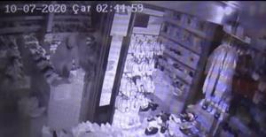 Bartın'da Dükkana giren hırsızlar, televizyon izledi