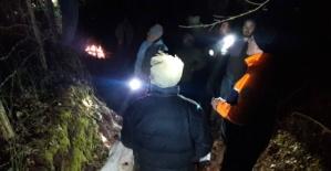 Bartın'da uçuruma yuvarlanan sarıkız kurtarıldı