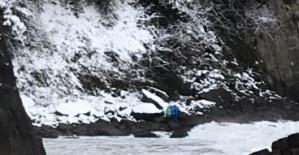Bartın'da kayıp 5 denizci yoğun kar yağışı altında aranıyor
