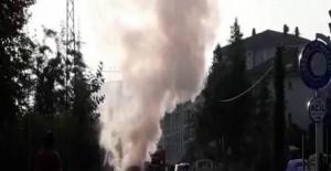 Bartın'da hareket halindeki hafif ticari araç yandı