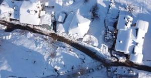 Karla kaplı Küre Dağları Milli Parkı havadan görüntülendi