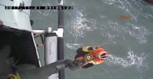 İnkumu açıklarında sürüklenen Rus gemisinde 6 mürettebat helikopterle kurtarıldı