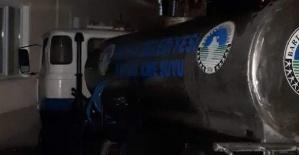Bartın'da Freni boşalan tanker evin bahçe duvarına çarptı