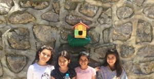 Bartın'da Minik Öğrencilerden Kuşlara Ev