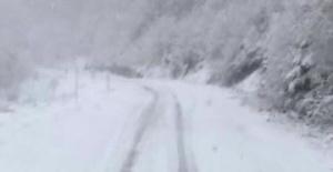 Bartın - Karabük Yolunda Yoğun Kar Yağışı
