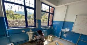 Bartın'da Selden Zarar Gören Okul Eğitime Hazırlanıyor