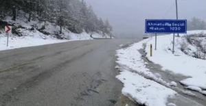 Bartın - Karabük Yolunda Kar Yağışı