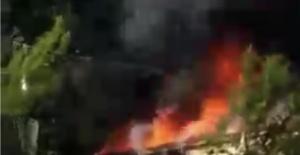 Bartın'daki yangında anne ve oğlu yaralandı