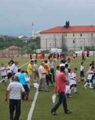 Minikler futbol şenliği başladı