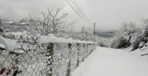 Bartın'da Yüksek Kesimler Şubat'ı Karla Karşıladı