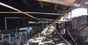 Bartın'da Ayakkabı Fabrikasında Yangın