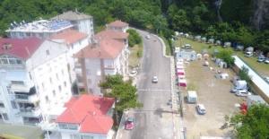 Bartın'da drone'lu trafik denetimi