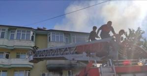 Bartın'da çıkan yangında 4 kişi son anda kurtarıldı
