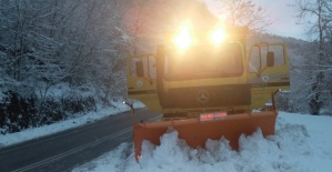 Bartın'da Kardan Kapanan Köy Yolları Açılıyor