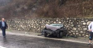 Bartın Amasra yolunda kaza