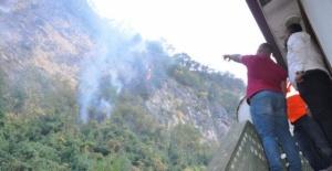 Bartın'da yangın! 7 ev boşaltıldı