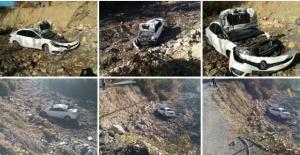 Bartın'da Otomobil Şarampole Yuvarlandı: 3 Yaralı