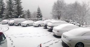 Bartın'da Nisan Ayında Kar Sürprizi