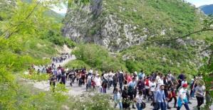 Bartın'da Küre Dağları Milli Parkı Ulukaya kanyonu ve şelalesine Doğa Yürüyüşü