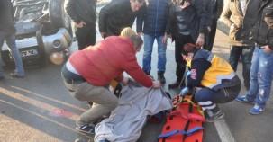 Kamyonet takla attı: 2 yaralı